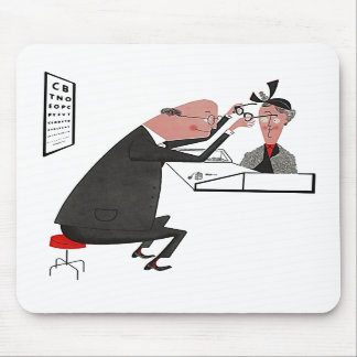 Mousepad ~ Retro Mid-Century Eye Doctor Office