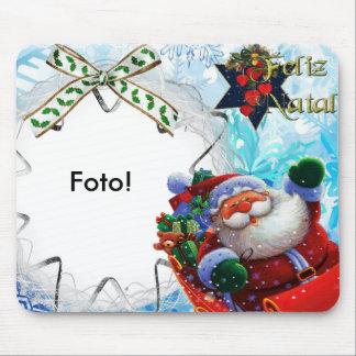 """Mousepad """"sleigh Papa Noel """""""
