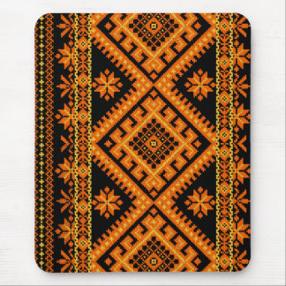 Mousepad Ukrainian Cross Stitch Orange