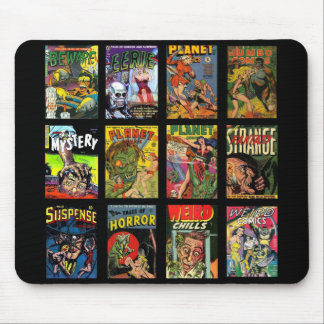 Mousepad Vintage Comic Book Covers Collage