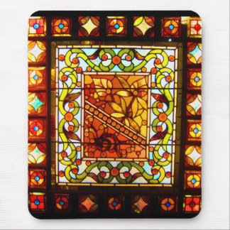 Mousepad-Vintage Stained Glass Art-16 Mouse Pad
