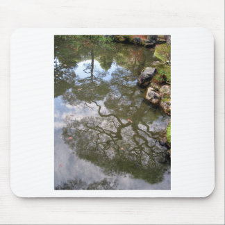 Mousepad w/ nature photo, reflections of trees