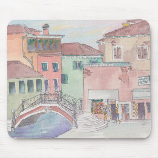 "Mousepad Watercolor Sketch ""Shopping/Italy"""