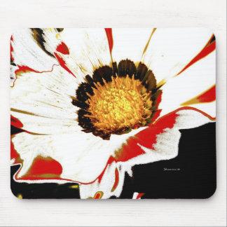 Mousepad White Red Flower