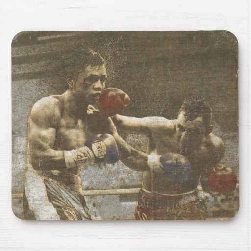 Mousepad with Boxing Scene from the Ringside
