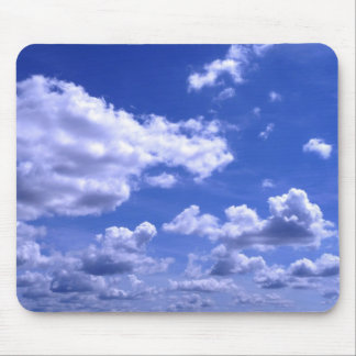 Mousepad with clouds