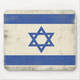 Mousepad with Cool Distressed Israel Flag
