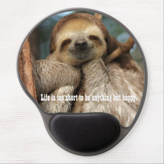 Mousepad with happy sloth