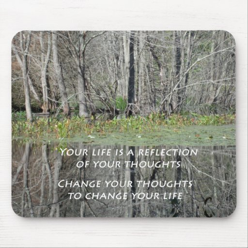 Mousepad with Nature Photo and Inspirational Quote