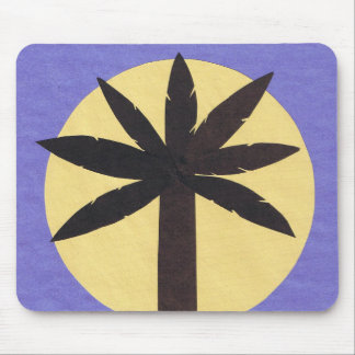 Mousepad with Palm Tree Design