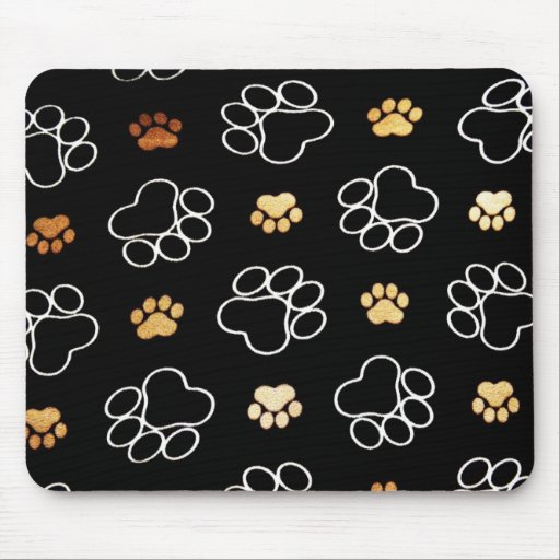 Mousepad with Paw Prints