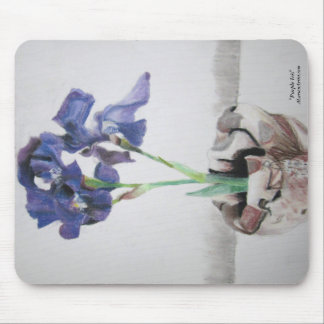 "Mousepad with ""Purple Iris"" by ALarsenArtist"