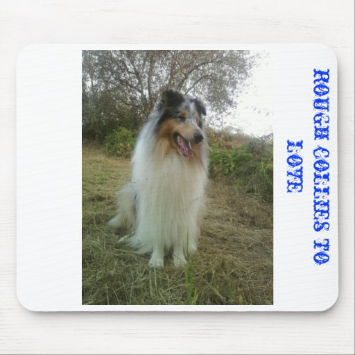 mousepad with rough collies