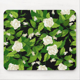 Mousepad with white roses seamless