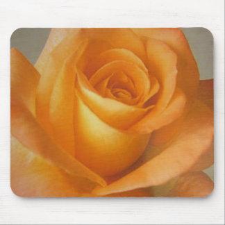 Mousepad Yellow Orange Rose Flower on Mouse Pad