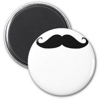 Moustache! 6 Cm Round Magnet