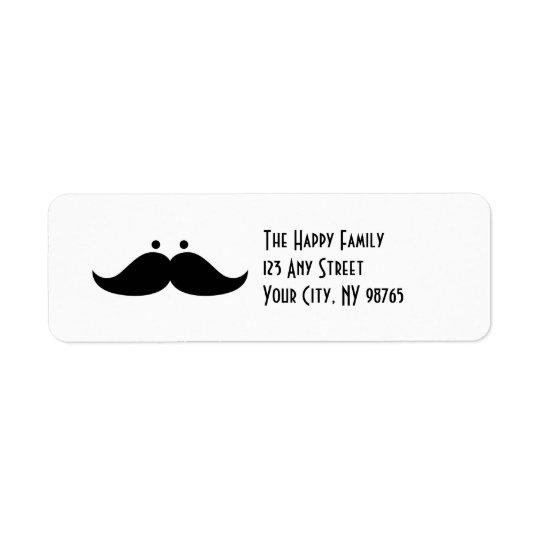 Moustache Address Labels Funny Moustache Humour