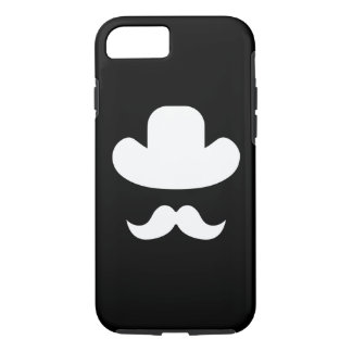 Moustache and hat iPhone 7 case