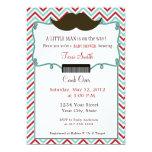 Moustache Baby Shower Invitation for Little Man