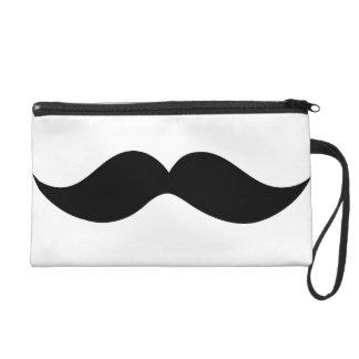 Moustache Bag Wristlet Purses