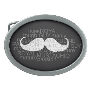 Moustache Belt Buckle gift for him Cool & Smart