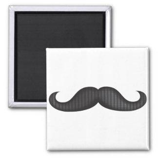 Moustache - Black Fridge Magnets