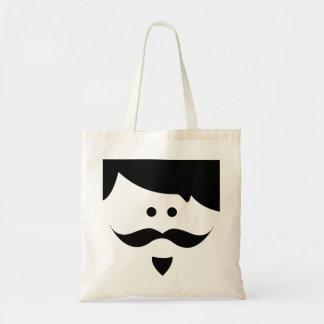 moustache budget tote bag