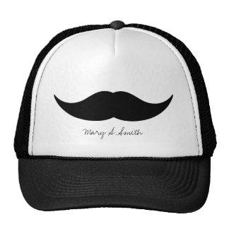 Moustache Custom Name Trucker Hat