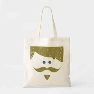moustache - distressed budget tote bag