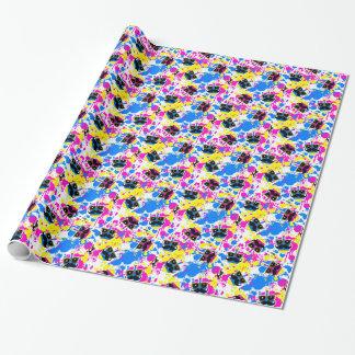 Moustache Dreidel Wrap (Pink) Wrapping Paper