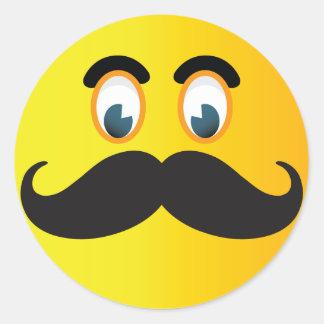 Moustache Emoji Smiley Sticker