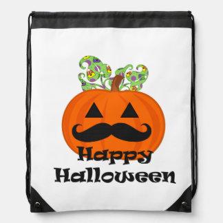 Moustache Halloween Drawstring Backpacks
