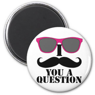 Moustache Humour with Pink Sunglasses Refrigerator Magnets
