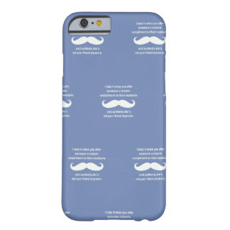 Moustache joke barely there iPhone 6 case