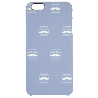 Moustache joke clear iPhone 6 plus case