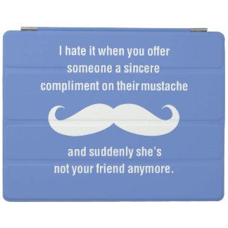 Moustache joke iPad cover