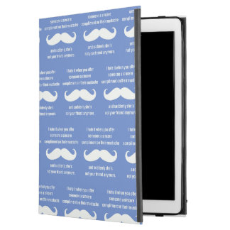 "Moustache joke iPad pro 12.9"" case"