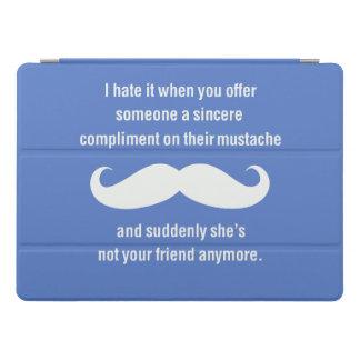 Moustache joke iPad pro cover