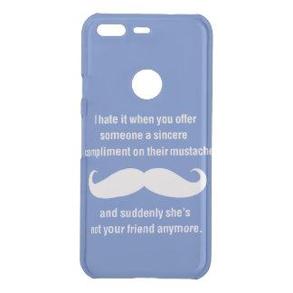 Moustache joke uncommon google pixel case
