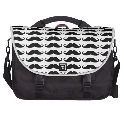 Moustache laptop bag.