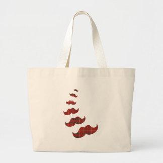 moustache large tote bag