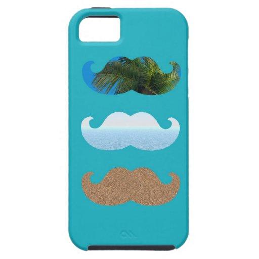 Moustache.. Life's A Beach! iPhone 5 Cases
