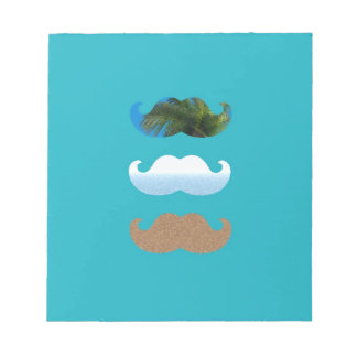 Moustache.. Life's A Beach! Notepad