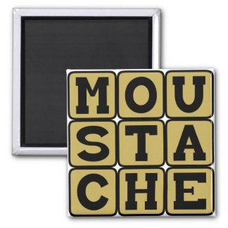 Moustache, Lip Hair Fridge Magnets