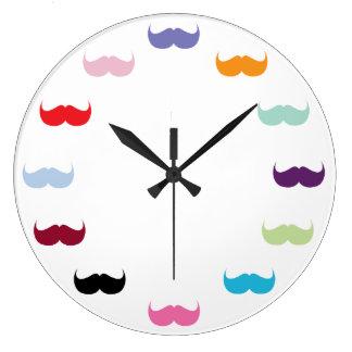Moustache Love Wall Clock