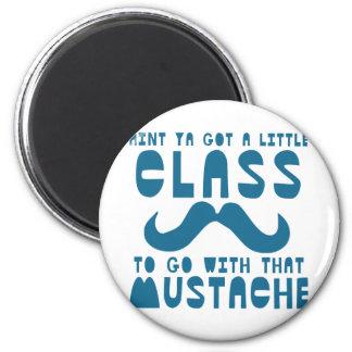 Moustache Fridge Magnet