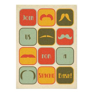 Moustache Mustache 40th Birthday Party Invitation