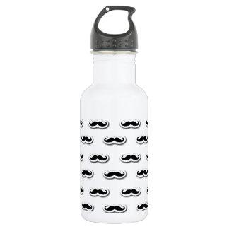 Moustache Pattern 532 Ml Water Bottle