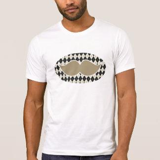 moustache pattern with argyle badge shirt