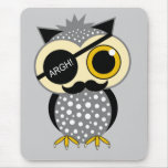moustache pirate owl mousepads